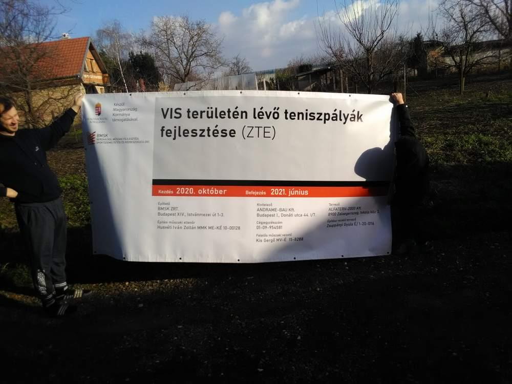 Zalaegerszeg projekt tábla készítés és telepítés